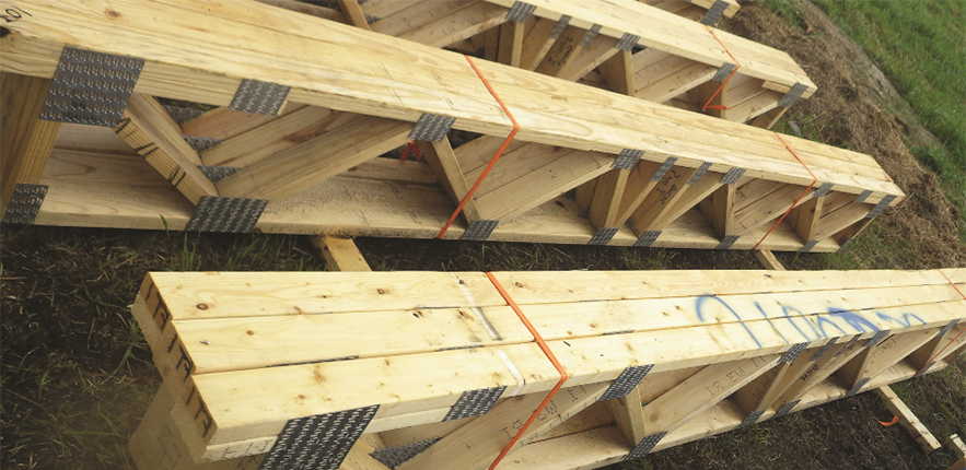 Impacts of weather and truss storage conditions