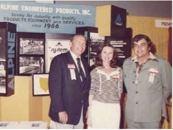 An early Alpine booth in 1966 with Charlie Harnden and Charlie Vaccar