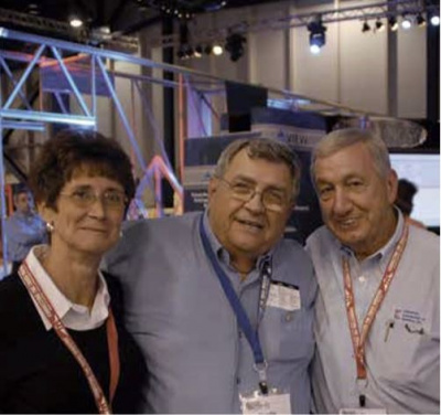 Charlie with Mary Emonds and Don Thiel, owner of Carpenter Contractors of America, at BCMC in 200