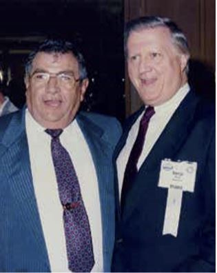 Charlie Vaccaro and New York Yankees owner George Steinbrenner at the 1995 FBMA Show in Florida