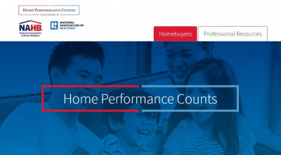 Screen shot of Home Performance Counts website