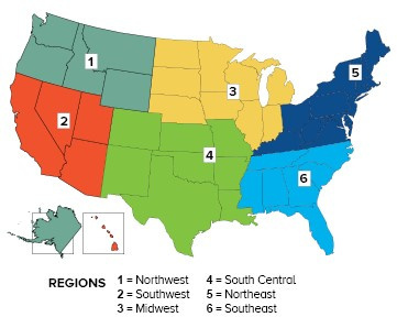 US map of regions