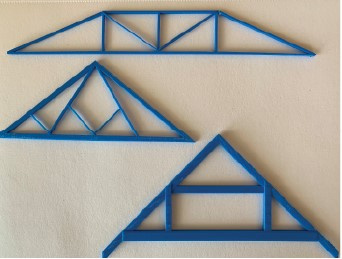 Trusses made with the school's 3D printer