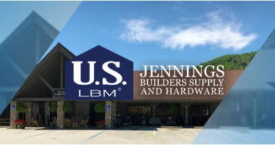 US LBM and Jennings Builders Supply logos