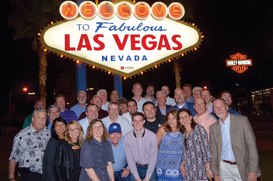 OQM group at Las Vegas sign