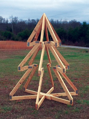Jon and Zach Schrock of Roof Tech Truss in Athens, Tennessee got into the holiday spirit with a lawn decoration for the plant.