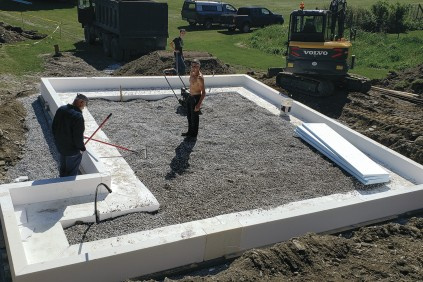 EPS Foam Used to Build Cost-Effective, Shallow Foundation