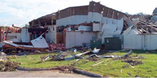 Zeeland Lumber and Supply's Wyoming, Michigan facility destroyed by a tornado