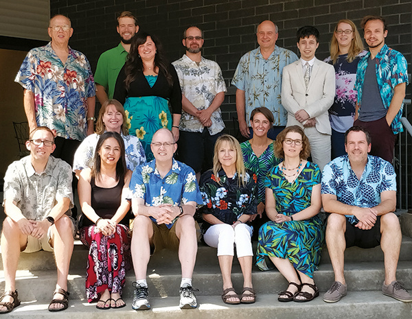 SBCA staff wearing hawaiian shirts
