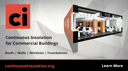 Continuous insulation for commercial buildings