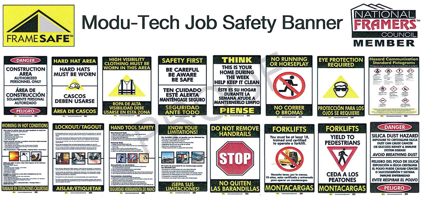 Modu-Tech job safety banner