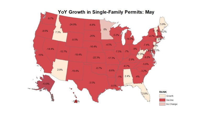 Maps: Did Housing Permits Grow in Your State? | SBC Magazine