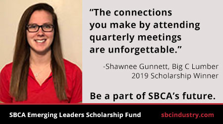 The connections you make by attending quarterly meetings are unforgettable says Shawnee Gunnett, Big C Lumber Scholarship Winner