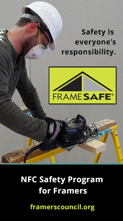 Safety is everyone's responsibility, Frame Safe Safety Program for framers