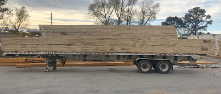 Load of trusses ready for delivery
